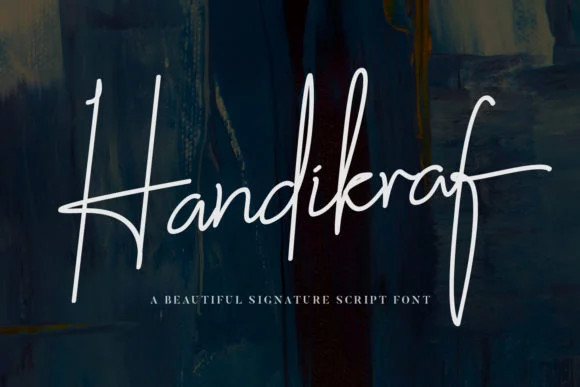 Handikraf Signature Font