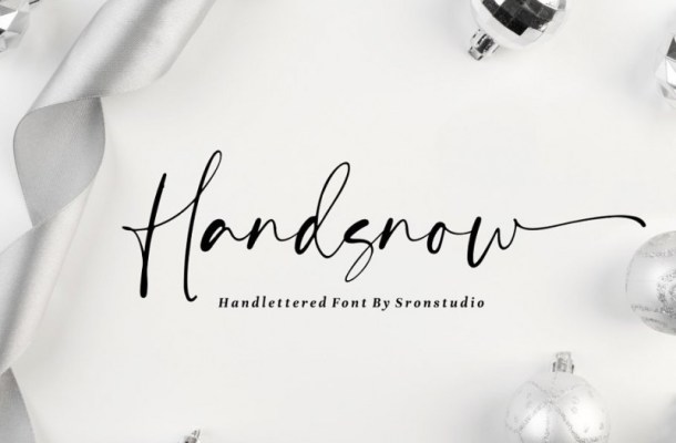Handsnow Font