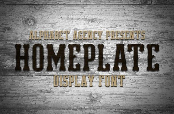 Homeplate Font