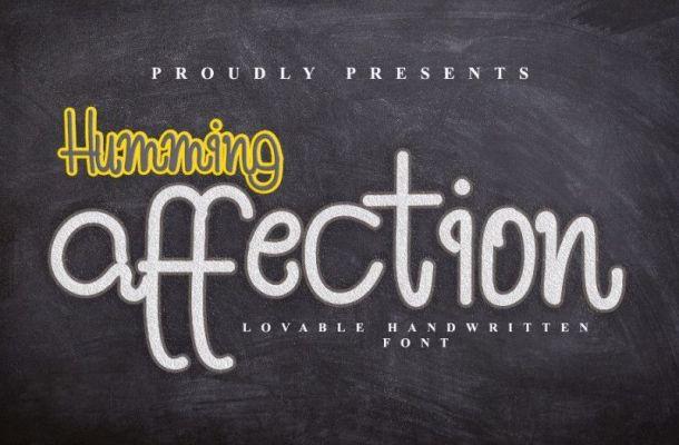 Humming Affection Font