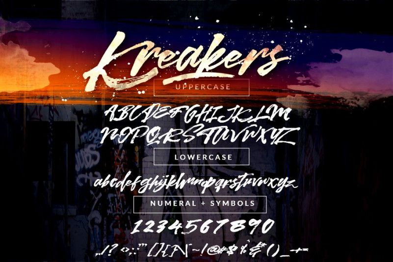 kreakers-brush-font-3