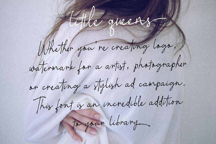 little-queen-signature-font-3
