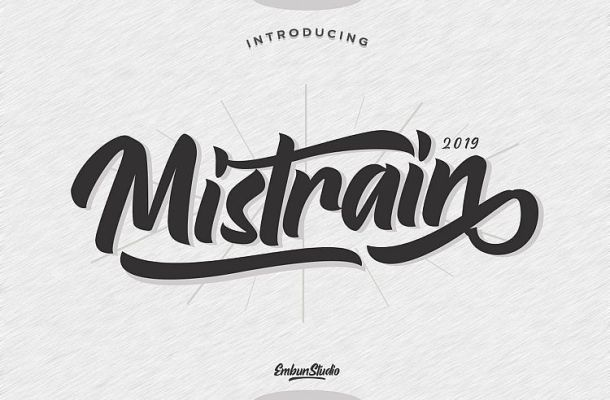 Mistrain Script Font