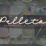 Palleto Handwritten Font