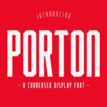 PORTON Display Font