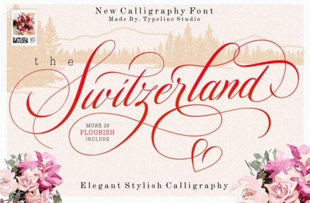Switzerland Calligraphy Font