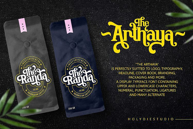 Download The Arthaya Display Font - Dafont Free