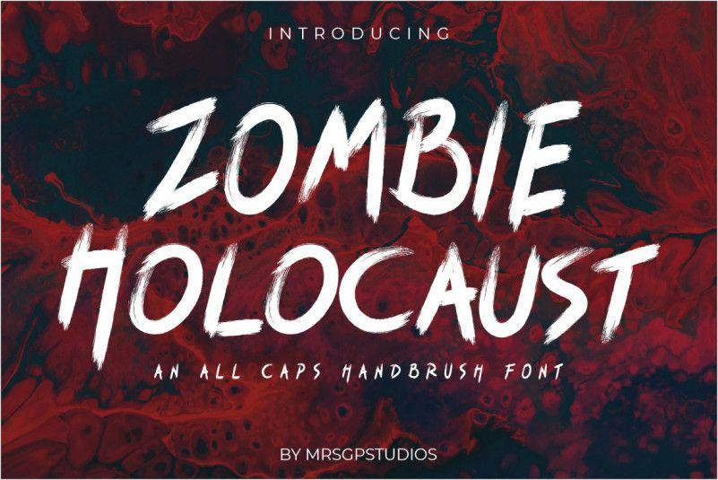 zombie-holocaust-handbrush-font-1
