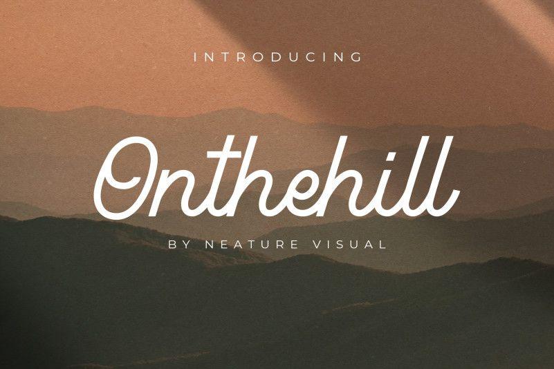 Onthehill Monoline Script Font