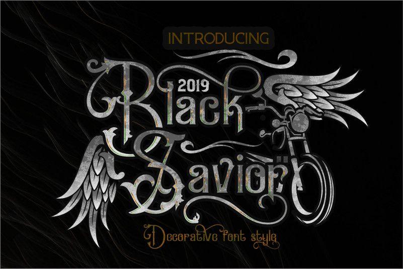 Download Black Savior Victorian Retro Font - Dafont Free