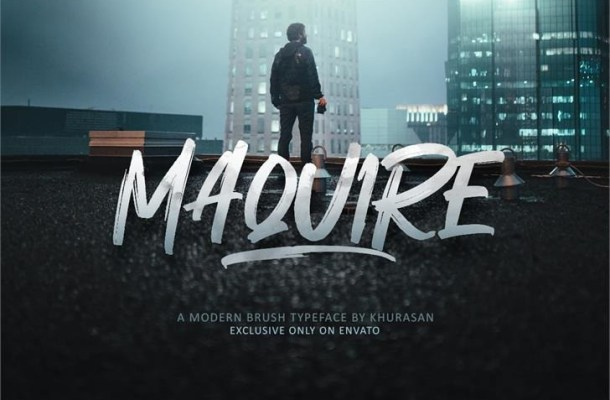 Maquire Brush Script Font