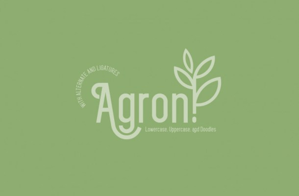 Agron Display Font