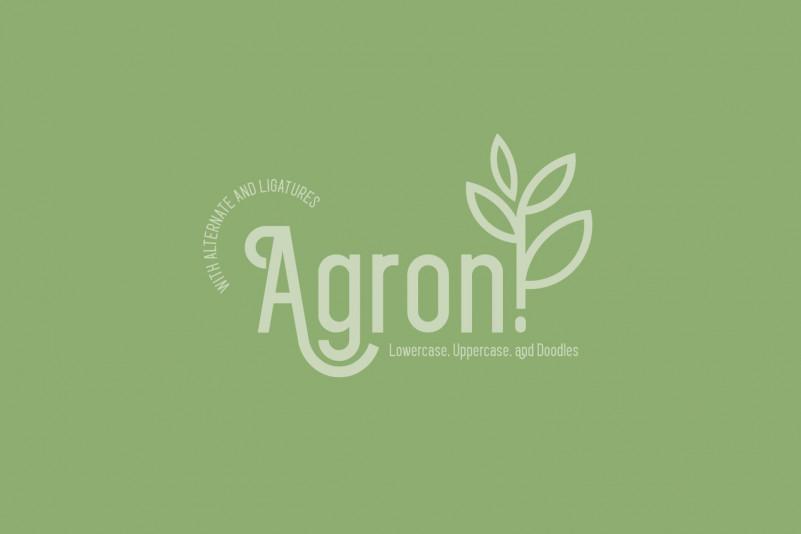 Agron Display Font