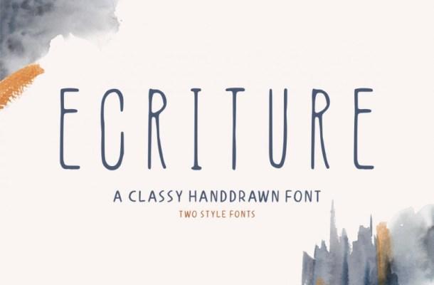 Ecriture Font