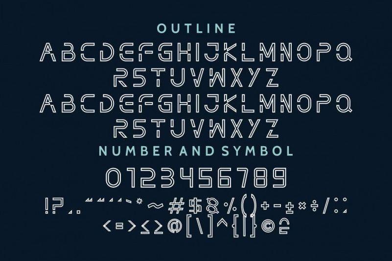 Nothan Futuristic Font-4