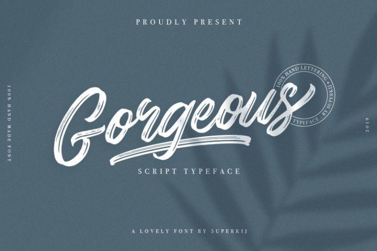 Gorgeous Script Typeface