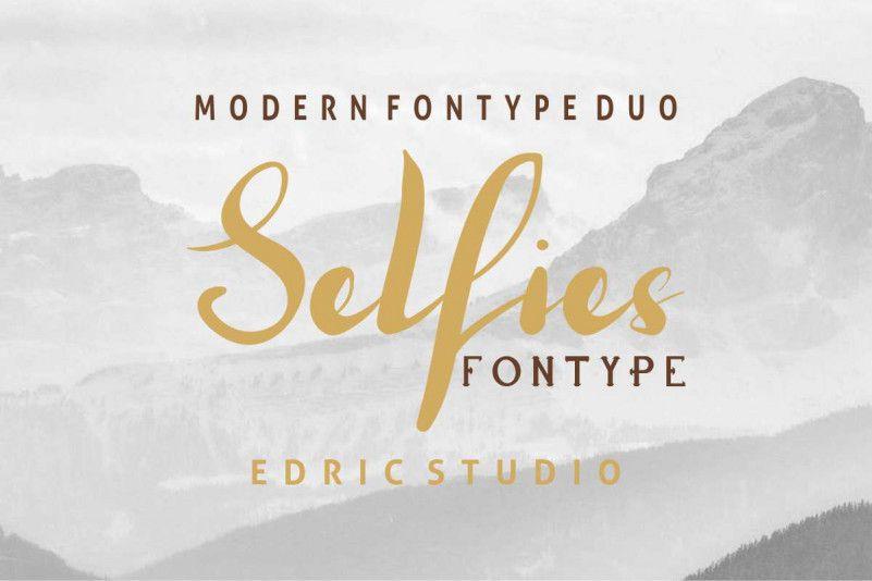 Selfies Font Duo