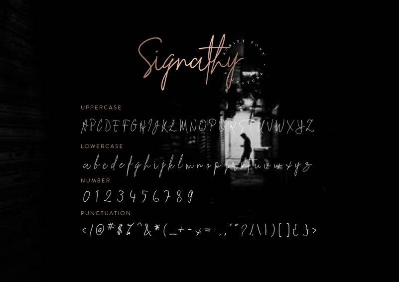 Signathy Signature Font