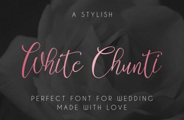 WhiteChunti Script Font