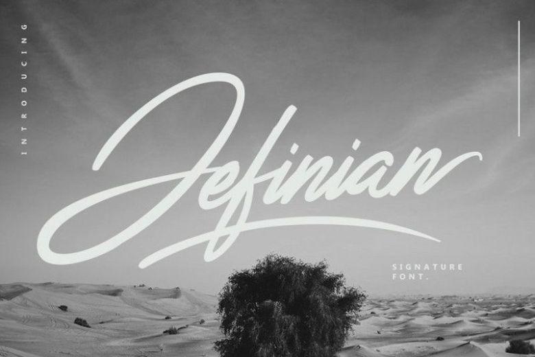 Jefinian Script Font