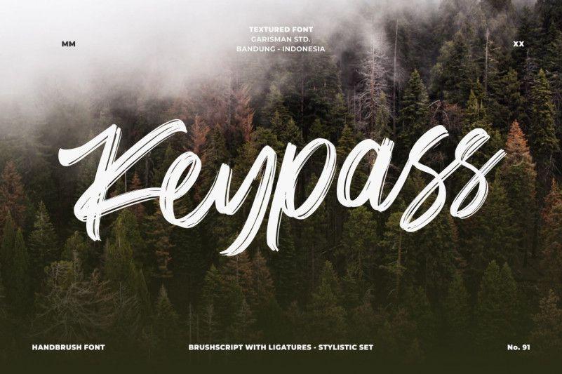 keypass-handbrush-font