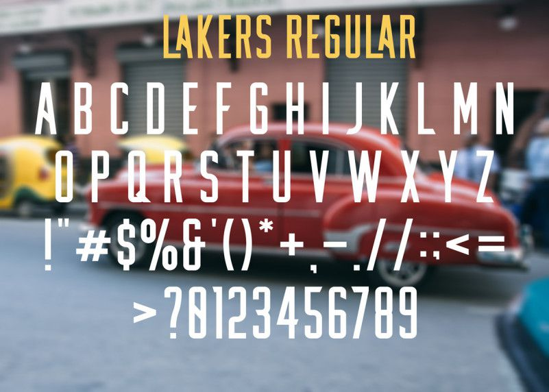 lakers-free-font-3