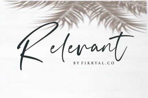 Relevant Script Font