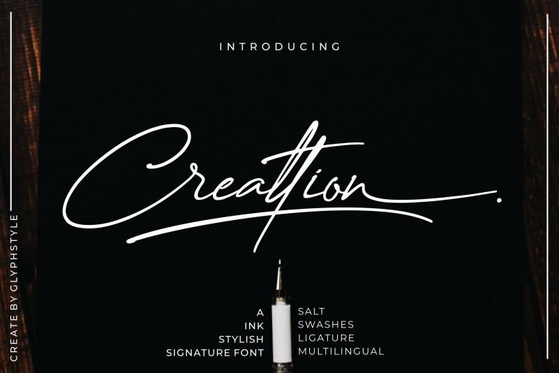Creattion Signature Font
