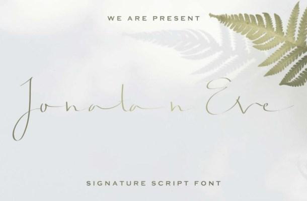 Jonatan Eve Script Font