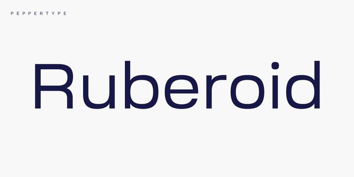 Ruberoid Sans Font