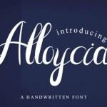 Alloycia Script Font