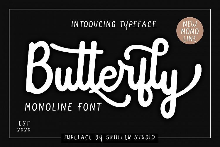 Butterfly Monoline Font