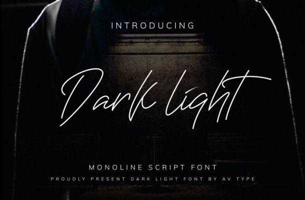 Darklight Monoline Font