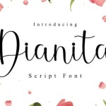 Dianita Script Font