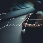 Einstein Signature Font
