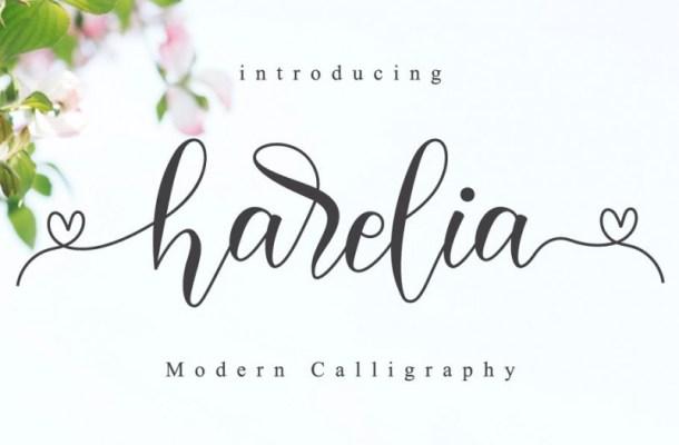 Harelia Lovely Script Font