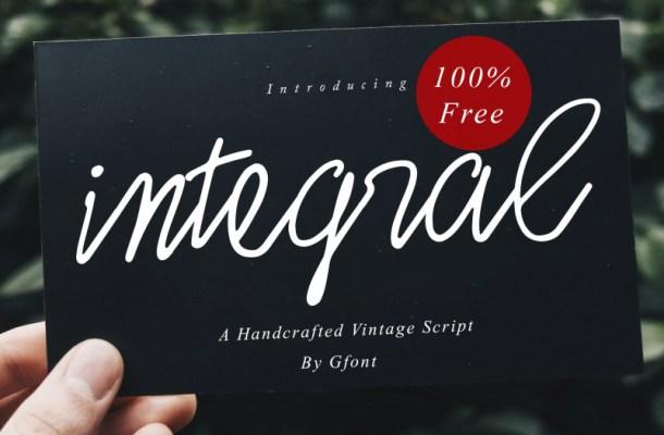 Integral Font