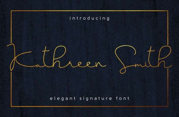 Kathreen Smith Signature Font