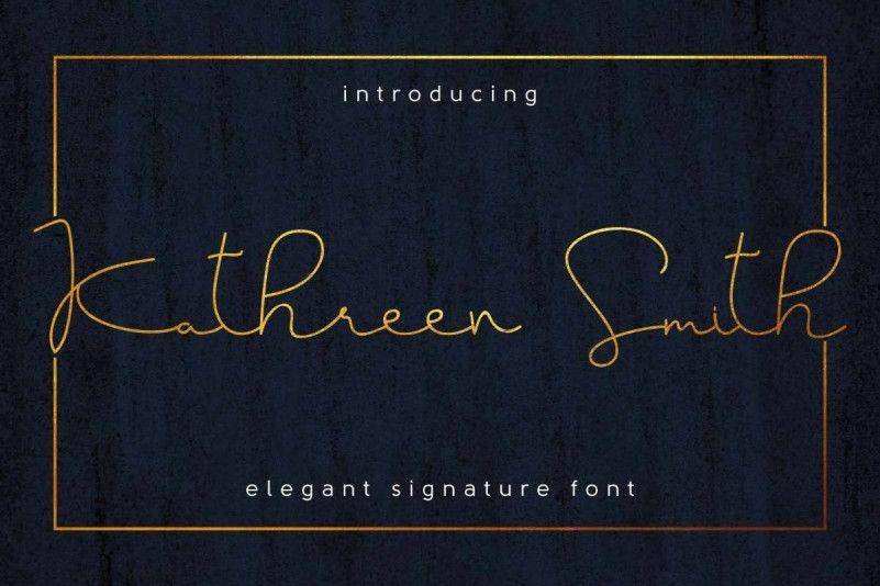 Kathreen Smith Signature Font