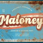 Maloney Display Font