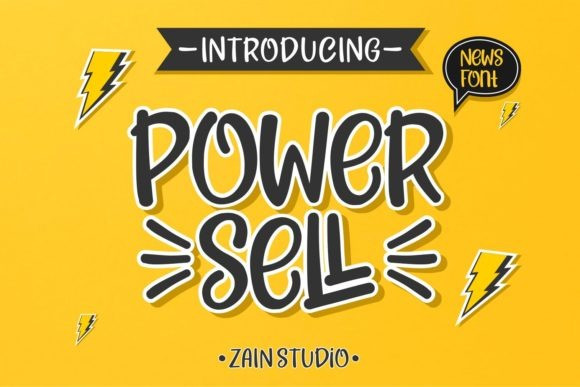 Power Sell Display Font