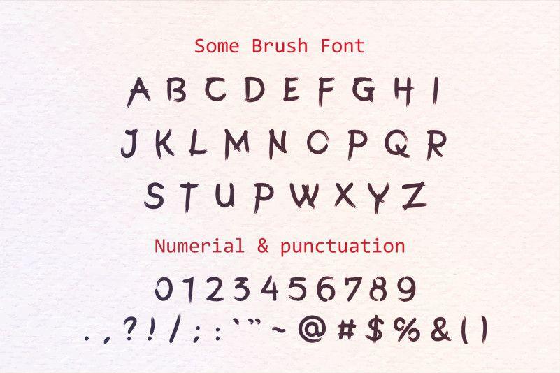 somebrush-font-2