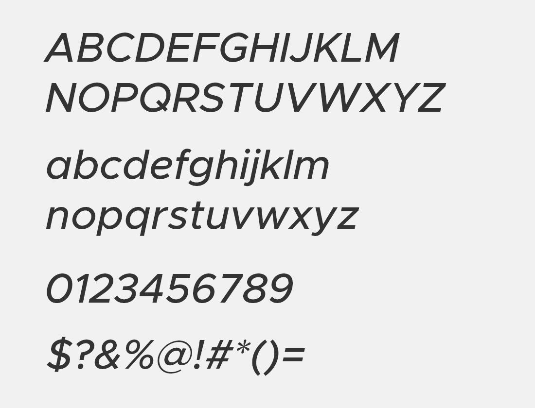 10 Metropolis medium oblique font avn