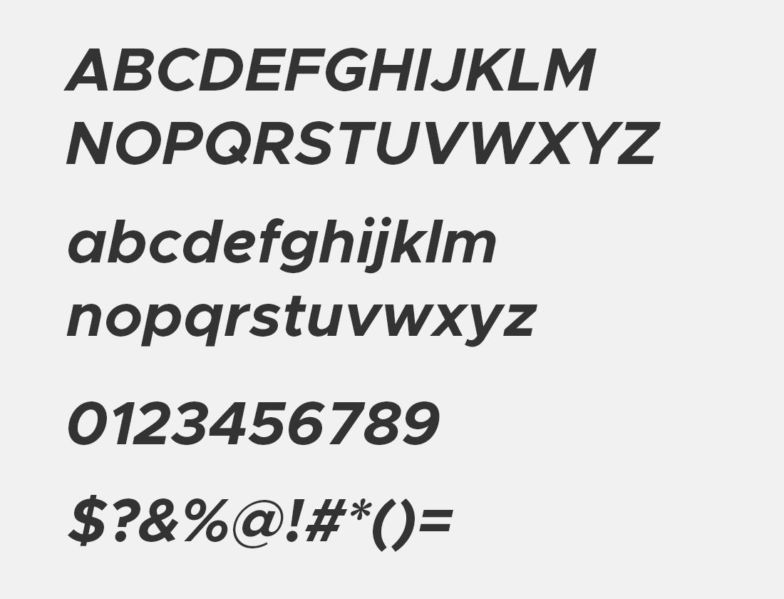 14 Metropolis bold italic font avn