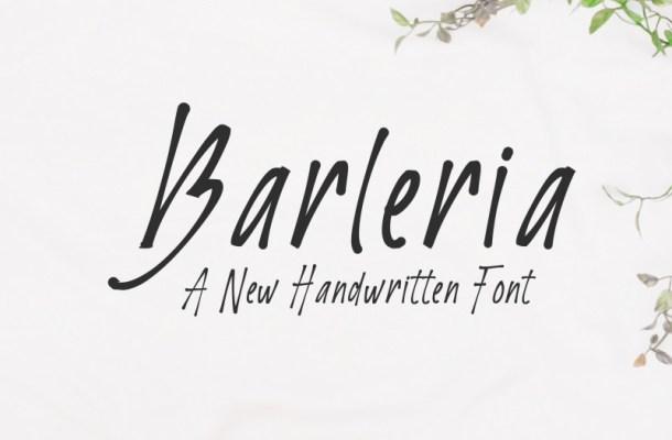 Barleria Script Font
