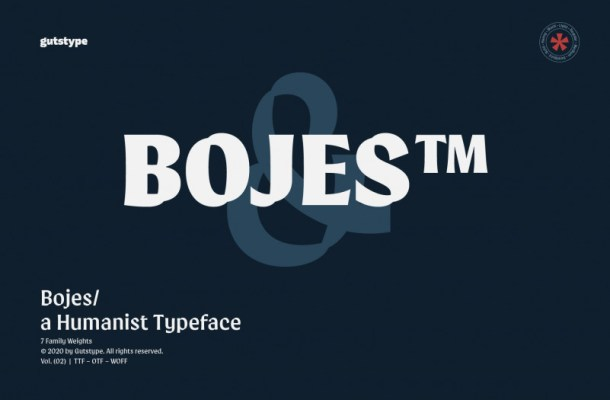Bojes™ Typeface