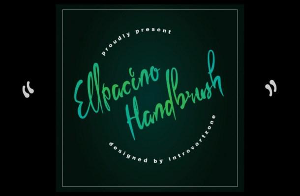 Ellpacino Handbrush Font
