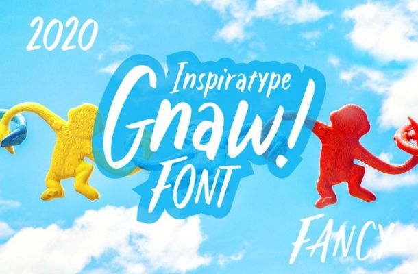 Gnaw - Kid's Fancy Font