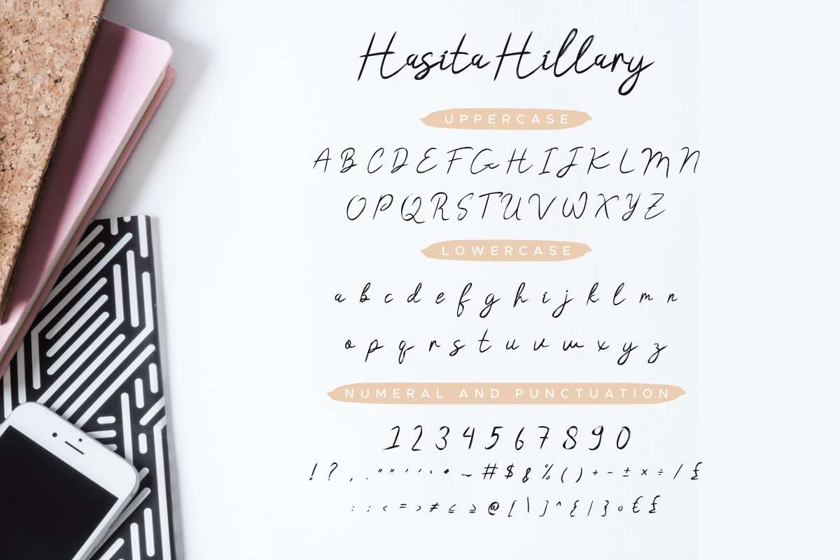 Hasita Hillary Brush Font-2