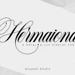 Hermaiona Calligraphy Font